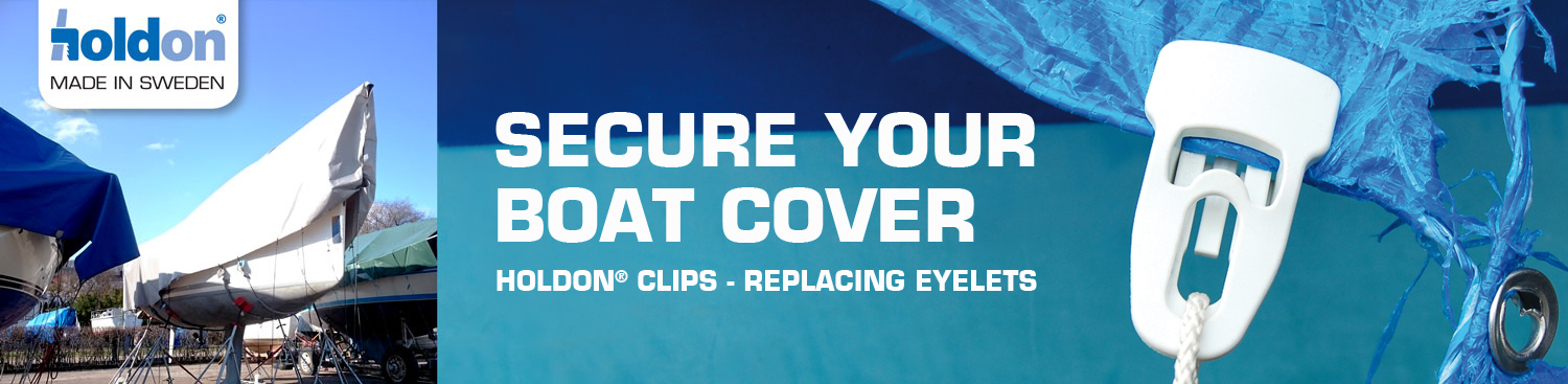Secure your boat cover with Holdon tarp clips